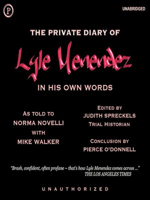 cover image of The Private Diary of Lyle Menendez