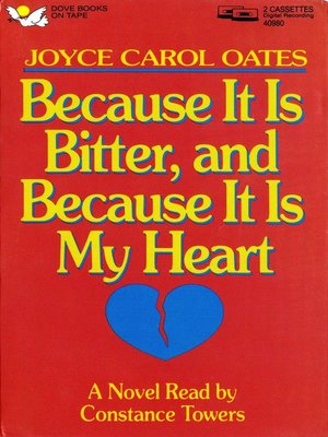 cover image of Because It Is Bitter and Because It Is My Heart