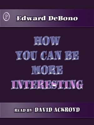 cover image of How You Can Be More Interesting