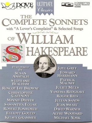 cover image of The Complete Sonnets of William Shakespeare