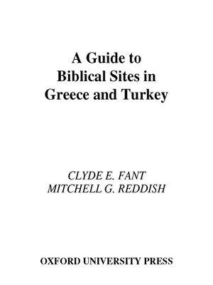 cover image of A Guide to Biblical Sites in Greece and Turkey