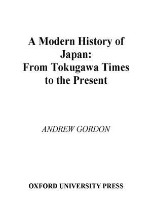 cover image of A Modern History of Japan
