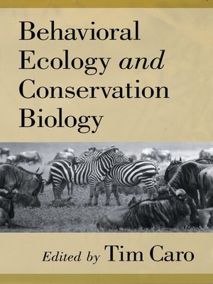 cover image of Behavioral Ecology and Conservation Biology