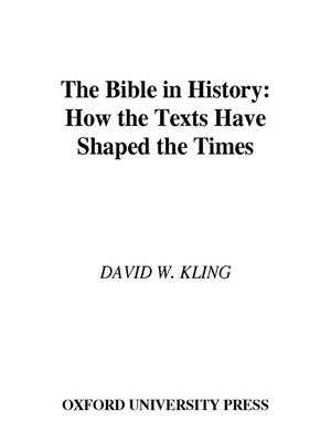 cover image of The Bible in History