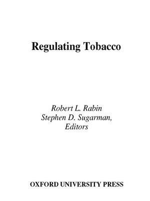cover image of Regulating Tobacco
