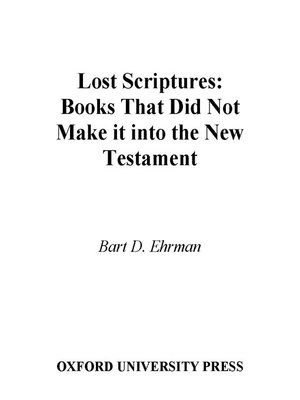 cover image of Lost Scriptures