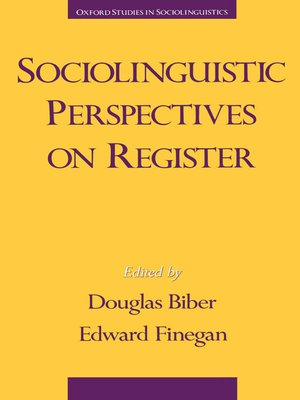 cover image of Sociolinguistic Perspectives on Register