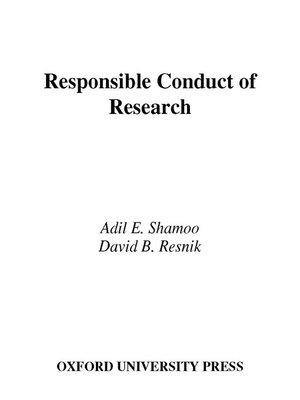 cover image of Responsible Conduct of Research