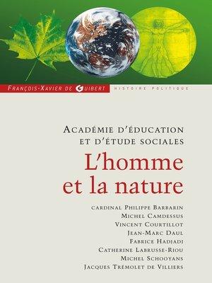 cover image of L'homme et la nature