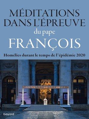 cover image of Méditations dans l'épreuve