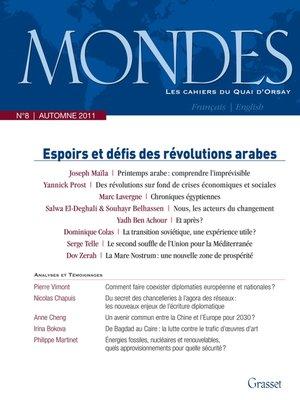 cover image of Mondes n°8 Les cahiers du Quai d'Orsay