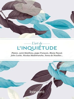 cover image of L'art de l'inquiétude