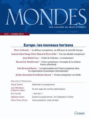 cover image of Mondes n°2--Les cahiers du Quai d'Orsay