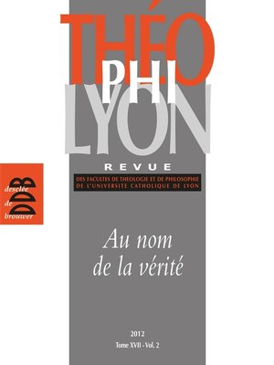 cover image of Théophilyon, N° 17 Volume 2, Nove