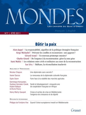 cover image of Mondes n°7