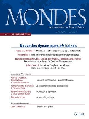 cover image of Mondes n°3--Les cahiers du Quai d'Orsay