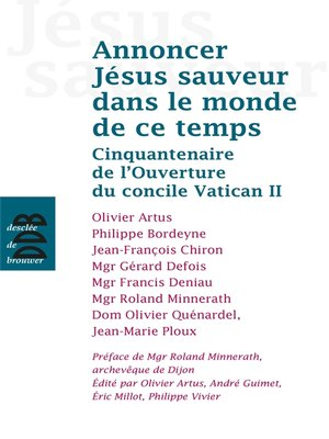 cover image of Annoncer Jésus Sauveur dans le monde de ce temps