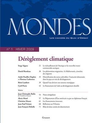 cover image of Mondes n°1--Les cahiers du Quai d'Orsay