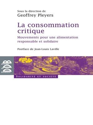 cover image of La consommation critique