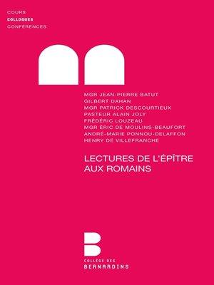 cover image of Lectures de l'Epître aux Romains