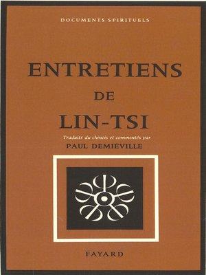 cover image of Entretiens de Lin-Tsi