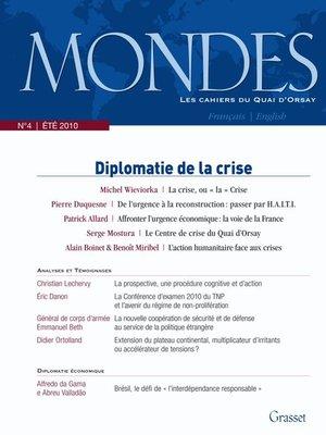 cover image of Mondes n°4--Les cahiers du Quai d'Orsay