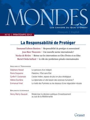 cover image of Mondes n°10 Les Cahiers du Quai d'Orsay