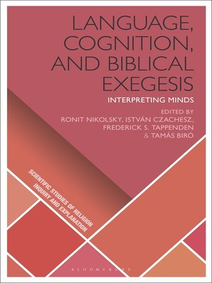 cover image of Language, Cognition, and Biblical Exegesis