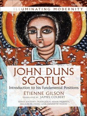 cover image of John Duns Scotus
