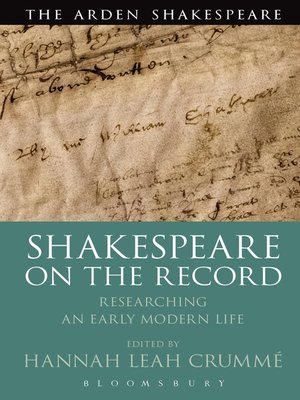 cover image of Shakespeare  on the Record