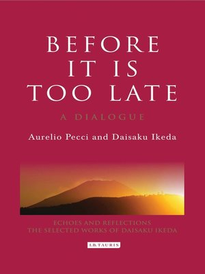 cover image of Before it is Too Late