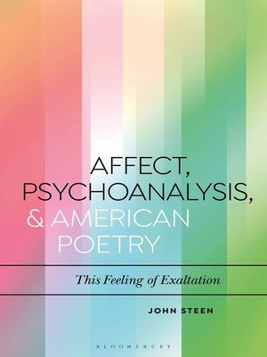 cover image of Affect, Psychoanalysis, and American Poetry