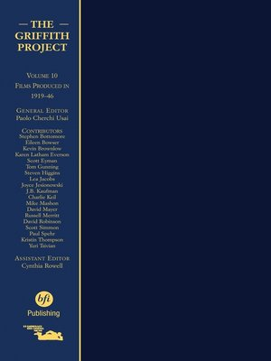 cover image of The Griffith Project, Volume 10