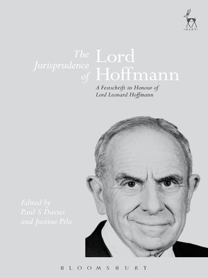 cover image of The Jurisprudence of Lord Hoffmann