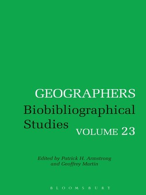 cover image of Biobibliographical Studies, Volume 23
