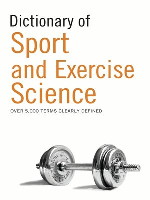 cover image of Dictionary of Sport and Exercise Science