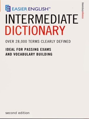 cover image of Easier English Intermediate Dictionary
