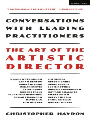 cover image of The Art of the Artistic Director