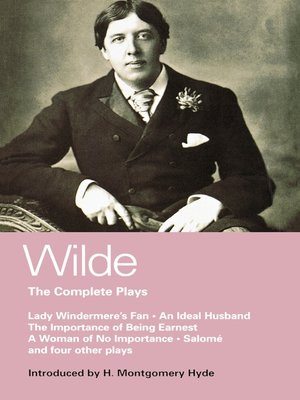 cover image of Wilde Complete Plays