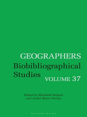 cover image of Biobibliographical Studies, Volume 37