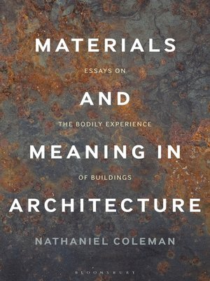 cover image of Materials and Meaning in Architecture