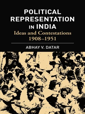 cover image of Political Representation In India
