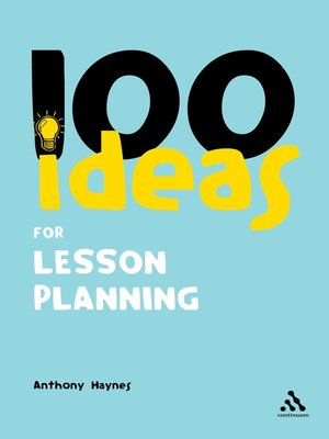 cover image of 100 Ideas for Lesson Planning