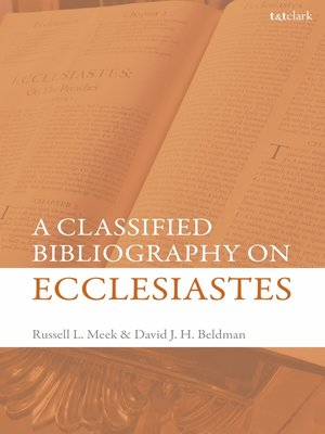 cover image of Classified Bibliography on Ecclesiastes