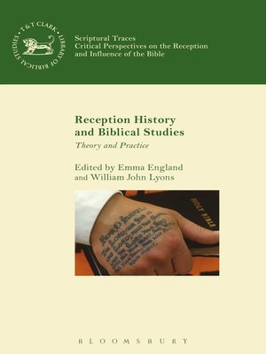cover image of Reception History and Biblical Studies