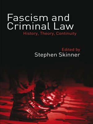 cover image of Fascism and Criminal Law