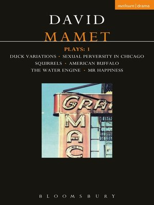 cover image of Mamet Plays, 1