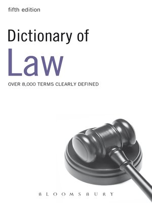 cover image of Dictionary of Law