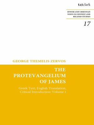 cover image of The Protevangelium of James