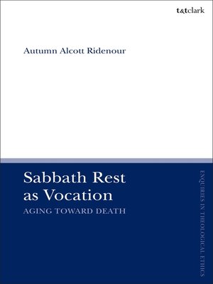 cover image of Sabbath Rest as Vocation